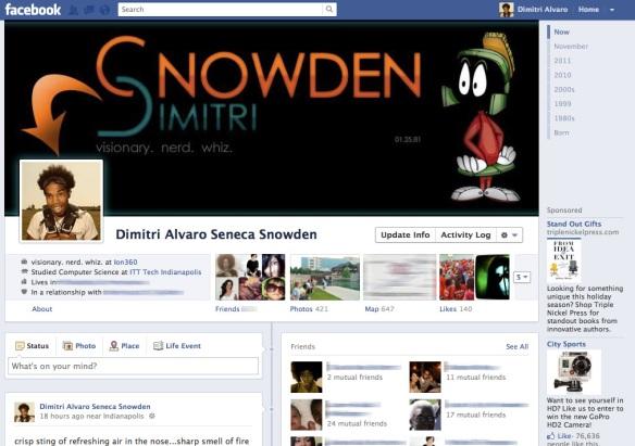 dimitri seneca snowden Facebook
